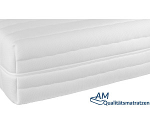 AM Qualitätsmatratzen Hochwertiger Matratzenbezug Tencel 80 x 200 x 16 cm