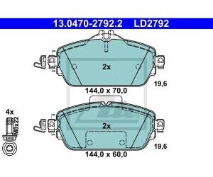 ATE 13.0470-2792.2 Bremsbelagsatz Scheibenbremse ATE Ceramic