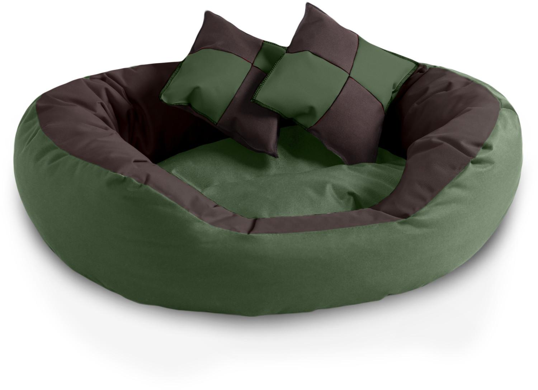 BedDog 4in1 Hundebett SABA L Mystic braun-grün