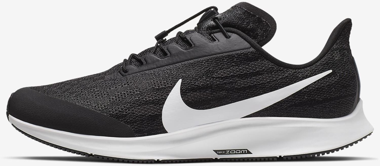 Nike Pegasus 36 FlyEase (Extra Wide) Black/Thunder Grey/White