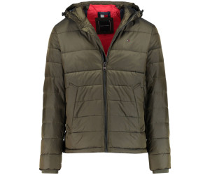 TOMMY HILFIGER Jacken 'C TWO TONE HOODED BOMBER' rot