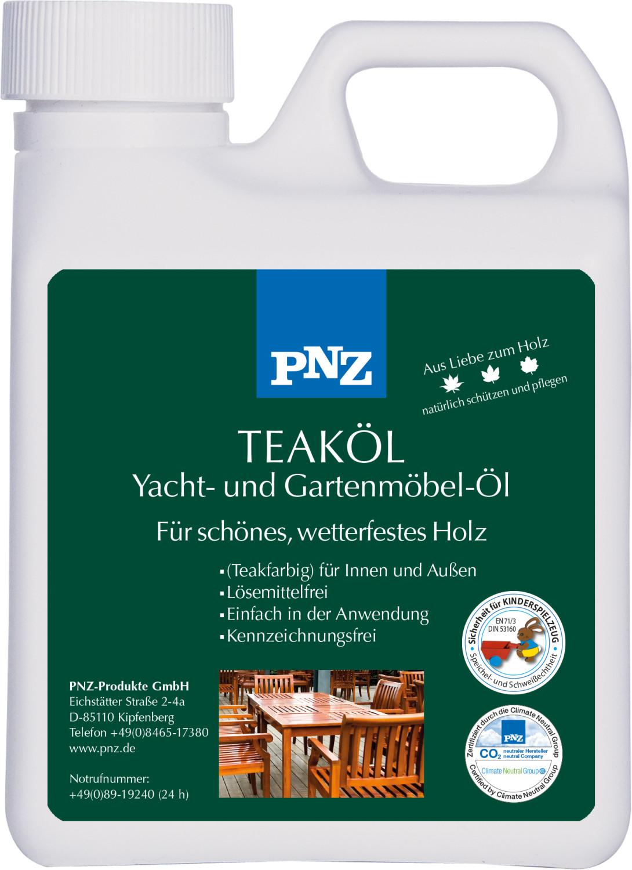 PNZ Teak-Öl: teakfarben - 10 Liter