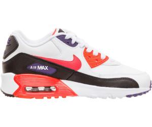 Nike Air Max 90 Leather GS whiteblackcourt purplewhite
