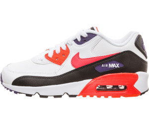 Nike Air Max 90 Leather GS shoes white black red