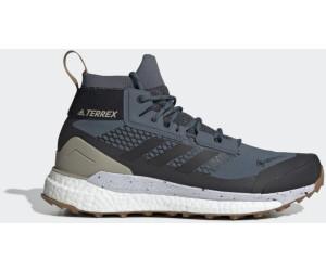 adidas Women's Terrex Free Hiker GTX Wanderschuhe Ch Solid Grey Grey Two Glow Blue | 4 (UK)