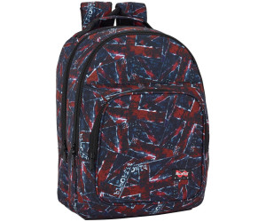 Safta School Backpack Blackfit8 flags 42 x 32 x 16 cm