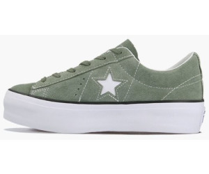 Converse One Star Platform Suede Low Top Vintage Lichen