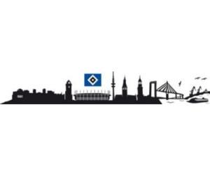 HSV Wandtattoo Hamburger SV Skyline schwarz