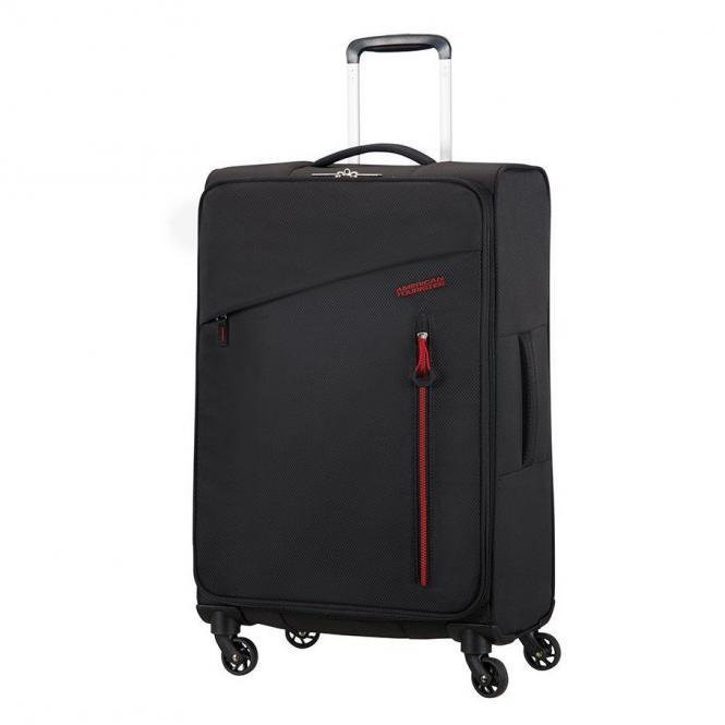 American Tourister Litewing 4 Wheel Trolley 70 cm volcanic black