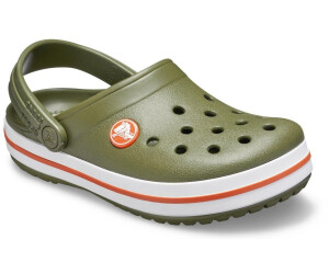 Crocs 204537 CROCBAND CLOG Kids Boys Girls Slip On Clogs Army Green//Burnt Sienna