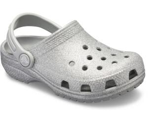 crocs Kinder-Mädchen-Sport-Freizeit-Clog Schuhe Kids/' Classic Glitter Clog weiss