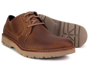 Buy Clarks Vargo Plain dark tan leather from £40.68 (Today
