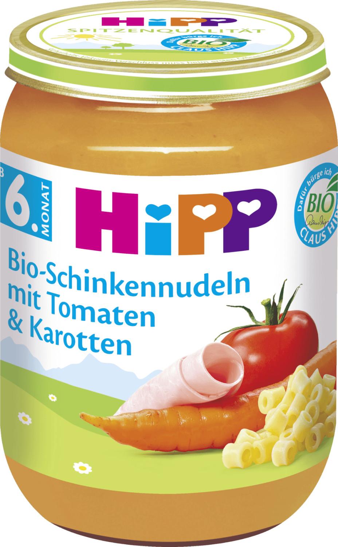 Hipp Bio-Schinkennudeln mit Tomaten und Karotten (190 g)