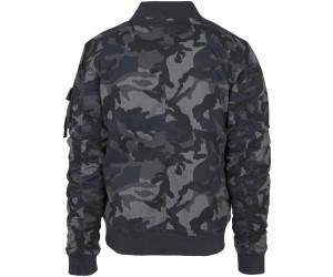 Urban Classics Vintage Camo Bomber Jacket Bomberjacke dunkelgrau camouflage NEU