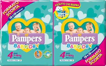 Image of Pampers Baby Dry Maxi Size 4, 7-18 kg 38pz