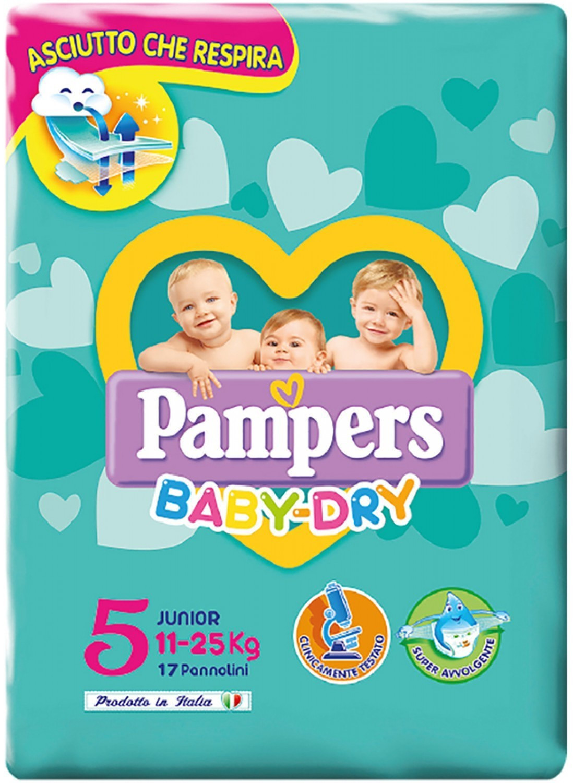 Image of Pampers Baby-Dry Junior Taglia 5 (11-25 kg) 17 pz.