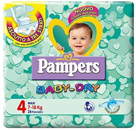 Image of Pampers Baby Dry Maxi Size 4, 7-18 kg 26 pz.