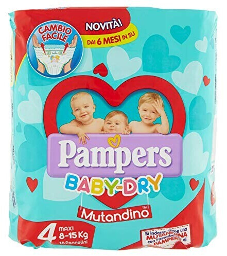 Image of Pampers Baby Dry Maxi Tg 4 (7-18 kg) 16 pz.