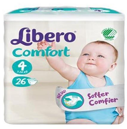 Libero Libero Comfort Size 4 (7-14 kg) 26 pcs.