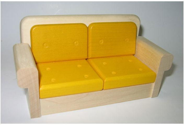 "Rülke Sofa ""Filius"" Couch Wohnzimmer Holz 1:12"