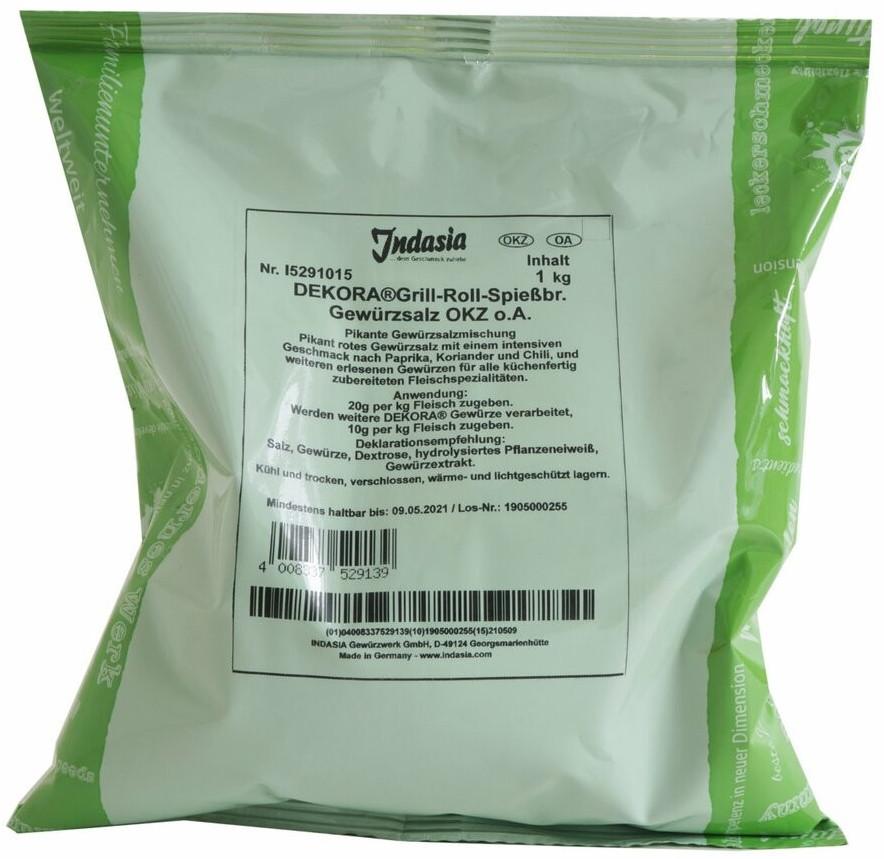 Indasia Grill-, Roll- und Spießbraten-Gewürzsalz (1kg)