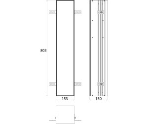 Emco Bad Asis Plus WC-Modul - Unterputzmodell Tür befliesbar ...