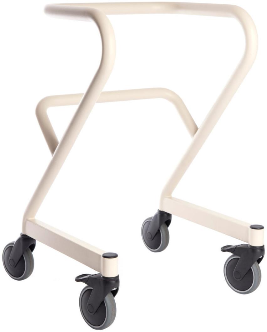 Saljol Page Wohnraum-Rollator mit Fußbremse Gr. M elfenbeinweiß