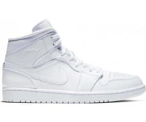Nike Air Jordan 1 Mid white/white/white au meilleur prix ...