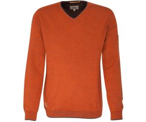 camel active V Ausschnitt Pullover mit kontrastfarbenen Abschlüssen
