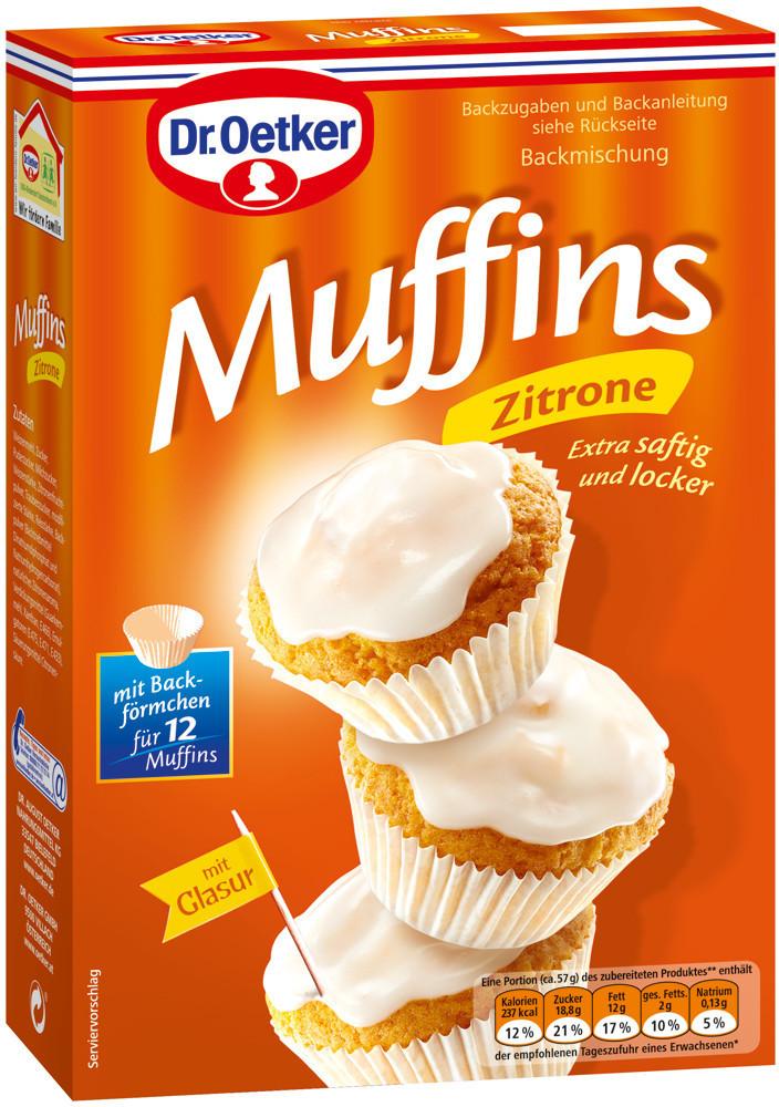 Dr. Oetker Backmischung Muffins Zitrone 415g