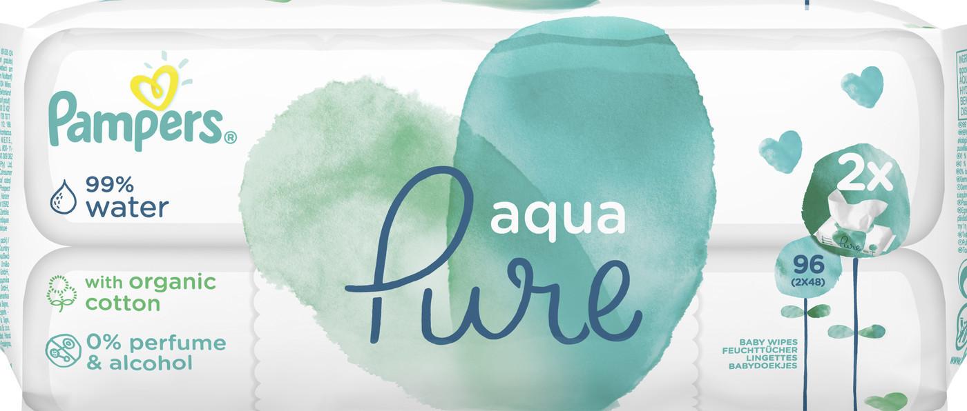 Pampers Aqua Pure Feuchttücher (2 x 48 Stk.)