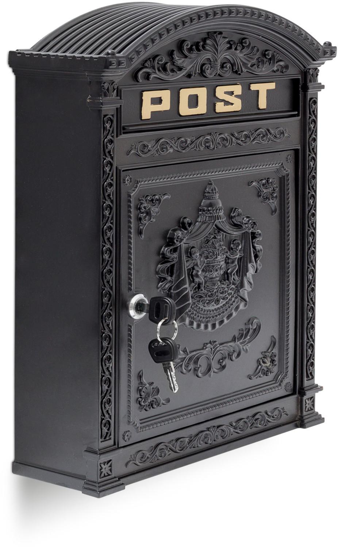 Relaxdays Stand-Briefkasten Antik schwarz