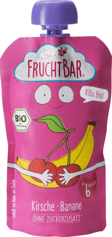 Frucht Bar Bio Fruchtpüree KiBa Beat Kirsche-Banane (120 g)
