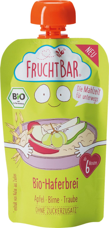 Frucht Bar Bio-Haferbrei Apfel-Birne-Traube (120 g)