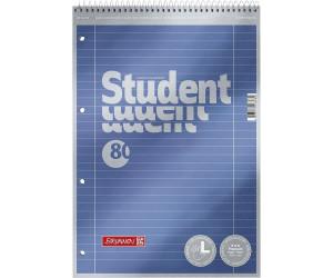 Brunnen Collegeblock Student 80 Blatt A4 70 g//m/² 5 Bl/öcke, liniert