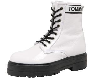 TOMMY HILFIGER Schnür Stiefeletten schwarz Patent leather platform boot