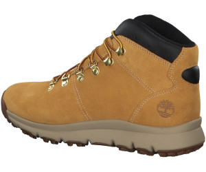 Timberland World Hiker Leather Hiking Boots yellow nubuck ab