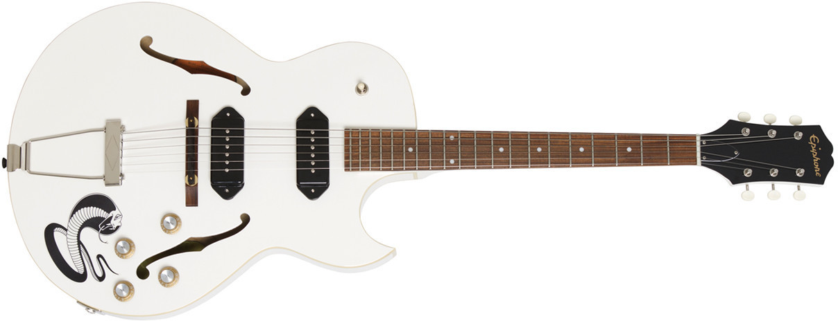 """Image of Gibson George Thorogood """"White Fang"""" ES-125TDC"""