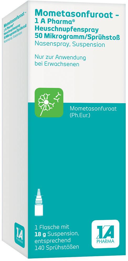 Mometasonfuroat-1A Pharma Heuschnupfenspray Nasenspray 50µg Sprühstoß (18g)