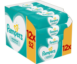 Pampers Sensitive Feuchttücher (12 x 52 Stk.)