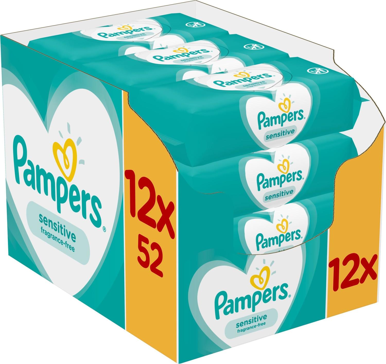 Pampers Sensitive Feuchttücher (12 x 52 Stk.)