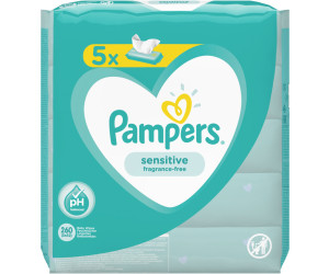 Pampers Sensitive Feuchttücher (5 x 52 Stk.)