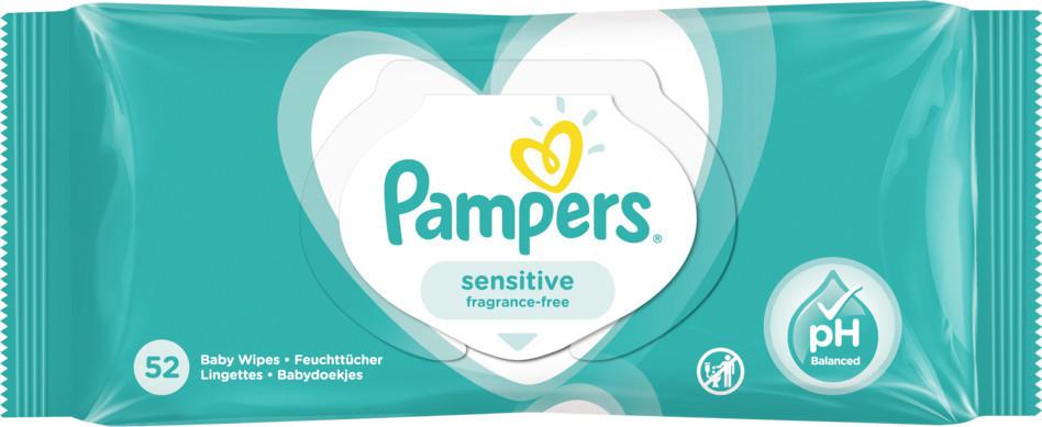 Pampers Sensitive Feuchttücher (52 Stk.)