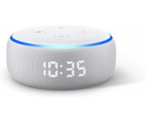Amazon Echo Dot (3. Generation) mit Uhr Sandstein Stoff ab