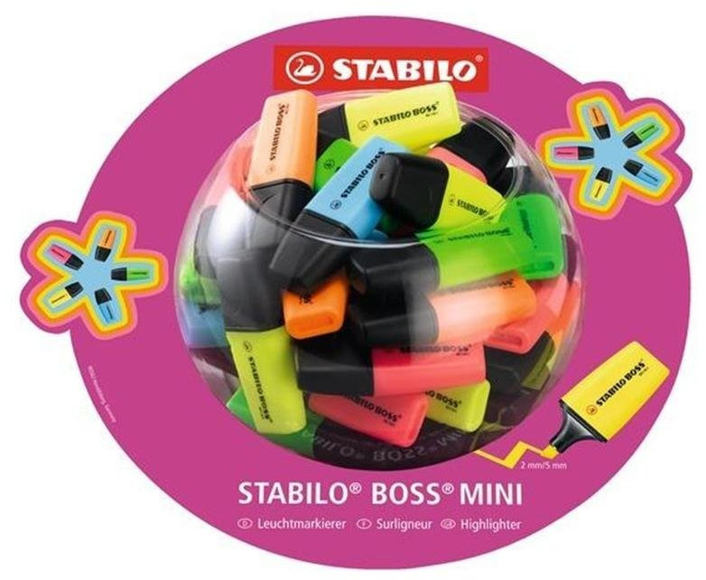 Stabilo Boss Mini 50er in Bonbonglas (07/50-1)