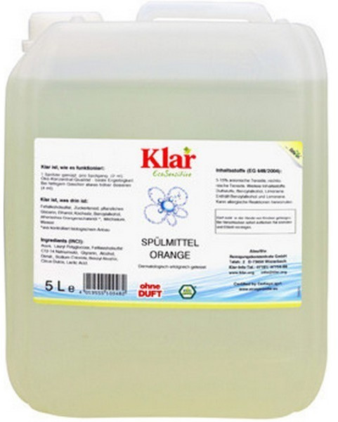Klar Spülmittel orange (5 L)
