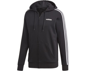 Adidas Essentials 3 Stripes Hooded Track Top black (DQ3102