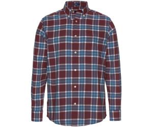 GANT Regular Fit Winter Twill Plaid Shirt port red