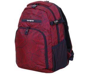 "Samsonite Rewind Notebook Backpack S 16"" capri red stripes"