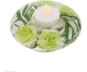Eglo LED-Kerzenlicht im Glas Blumen